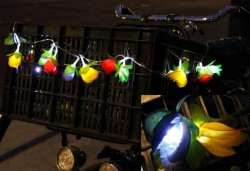 HBS Flowers Garland LED on Batteries
