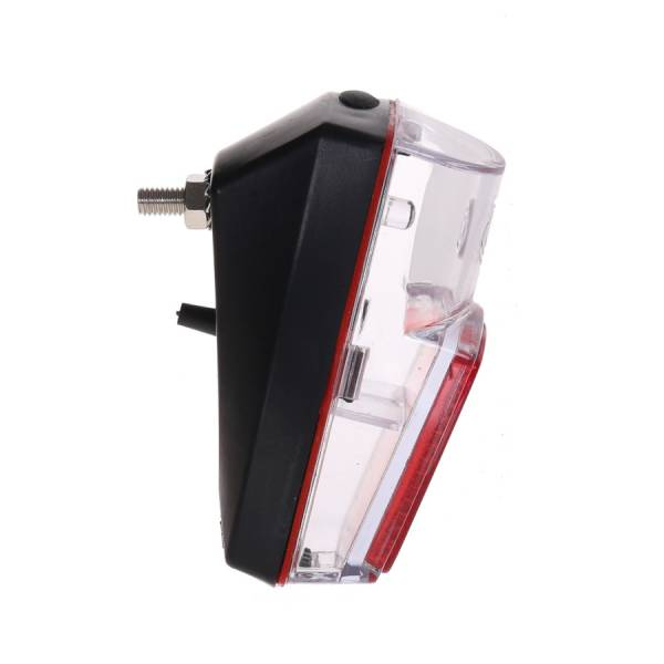 HBS Rear Light LED 2xAAA - Transparent