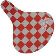 Hooodie Cushie Saddle Cover Checkered Red/White