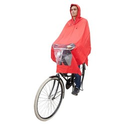 Hooodie Poncho One-Size-Fits-All Rood