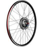 ION D-Light E-Bike Front Wheel 24S - Black/Silver