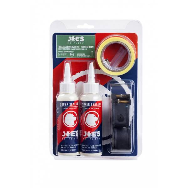 Joe No Flats Tubeless Kit Groen Breed XC/AM Autoventiel