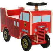 Kiddimoto Draisiennes Fire Truck 4 Roues - Rouge
