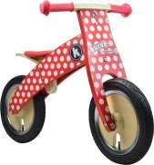 Kiddimoto Loopfiets Kurve Red Dotty