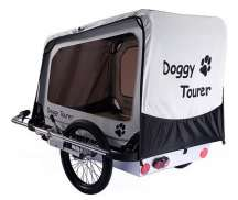 Kids Touring Doggy Tourer L Dog Cart - Silver/Black