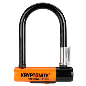 Kryptonite Beugelslot Evolution Mini5 8.3x17.8cm - Zw/Oranje