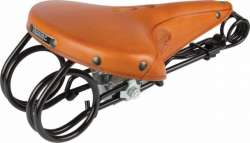 Lepper L85 Hammock Bicycle Saddle Honey Brown