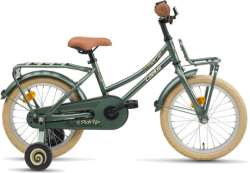"Loekie Pick Up Pigecykler 16"" Bremsenav - Armygrøn"