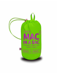 Mac in a Sac Kids Regenjas Neon Green - 5-7 Jaar