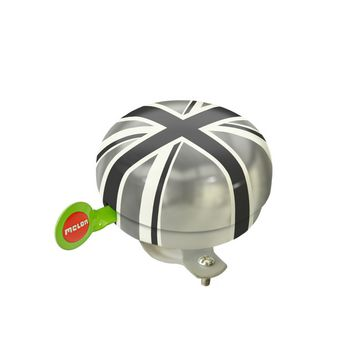 Melon Bicycle Bell Union Jack Plain Ø60mm - Black/Gray | Bells