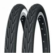 Michelin Buitenband City Junior 24 x 1.75 - Zwart/Wit