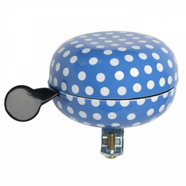 New Looxs Polka Bicycle Bell Ding Dong - Blue/White | Bells