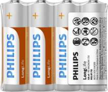 Phillips Longlife AA R6 Batterijen - Doos 12 x 4