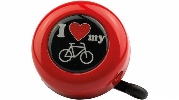 Reich I Love My Bike Bicycle Bell - Red | Bells