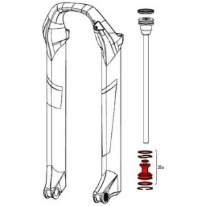 Rockshox Afdichtingskop tbv Pike Solo Position Air 2014