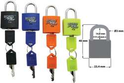 Security Plus Mini Padlock Set 22mm Universal Key
