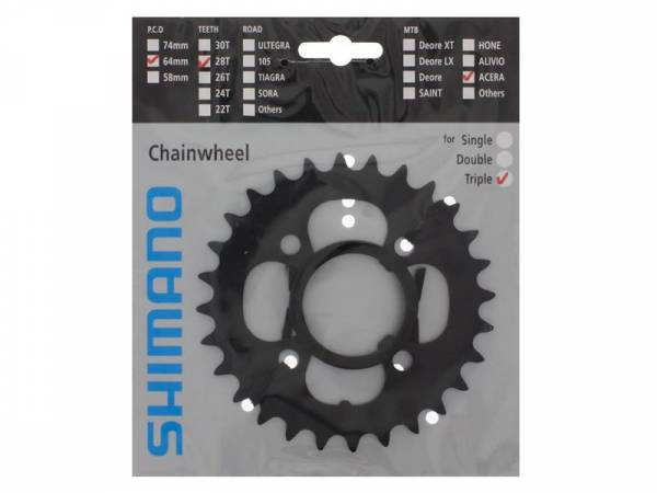 Shimano Chainring Acera FC-M361 28T BCD 64 7/8S Black | chainrings_component