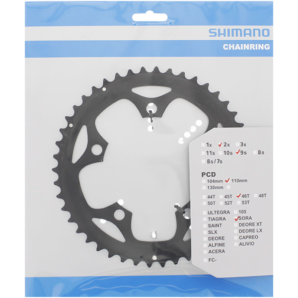 Shimano Chainring Fc-3550 46T Bcd 110Mm Black | chainrings_component
