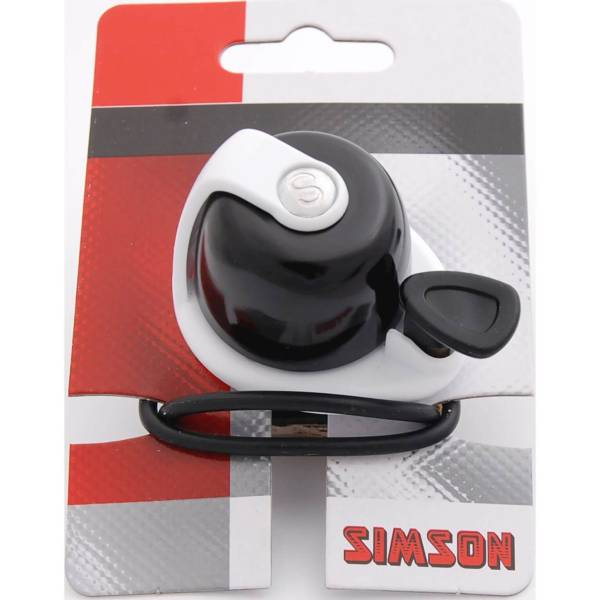 Simson Bicycle Bell Allure - Black/White | Bells