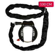 Starry Frame Lock With Plug-In Chain 100cm Black