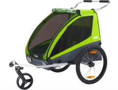 Thule Coaster XT Bicycle Trailer 2-Children - Avocado Green