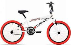 Tornado BMX Royal Bugatti 20 Pouce Freestyle - Blanc/Rouge