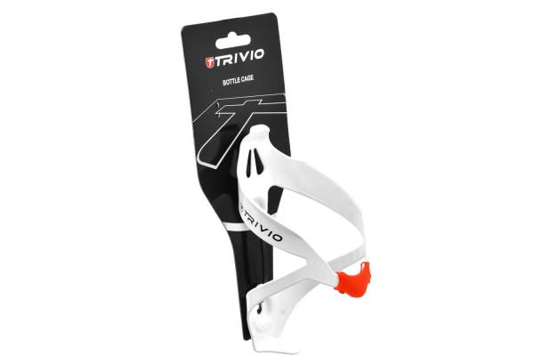 Trivio Bottle Cage Alu Light - White/Red | Bottle cages