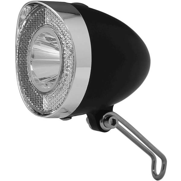 Union Headlight UN-4915 Retro LED on Batteries - Black