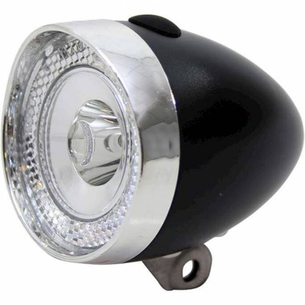 Union Koplamp UN-4955 Retro Mini 3LED - Zwart/Chroom