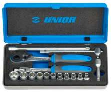 "Unior Set De Capuchons 1/4"" Chrome Vanadium 16 Pièces"