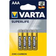 Varta R03 AAA Batterier 1.5H Superlife - Gul (4)