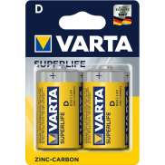 Varta R20 D Piles 1.5V Superlife - Jaune (2)