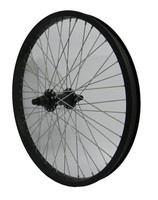 Voorwiel Freestyle 20 Inch BMX 48 Gaats 14mm As - Zwart