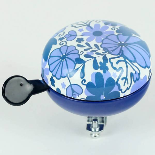 Widek Ding Dong Flower Bicycle Bell Ø80mm - Blue/White | Bells