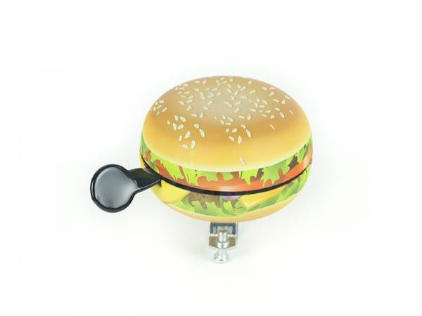 Widek Ding Dong Hamburger Bicycle Bell Ø80mm - Brown/Yellow | Bells