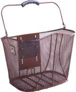 Willex Metal Bicycle Basket With Lock System Brown 14L