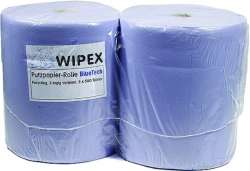 Wiping Cloth on Roll 3-Layer Recycled Paper 38cm Blue (2)