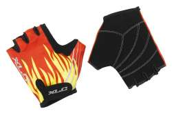 XLC Cycling Gloves Kids Short Fireworker Red/Black