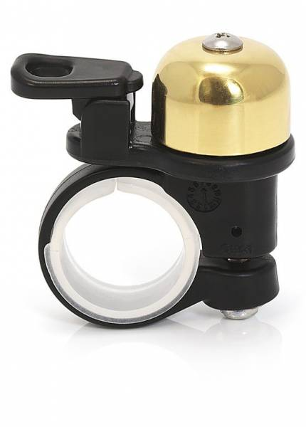 XLC Mini Bicycle Bell Brass - Black/Gold | Bells