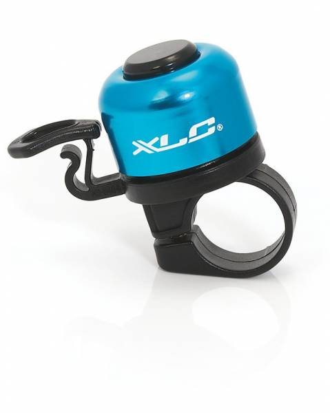 XLC Mini Bicycle Bell Ø22.2mm - Blue/Black | Bells