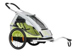 XLC Mono1 Bicycle Trailer 1-Child - Green/Silver